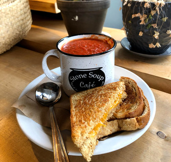Tomato Basil Soup & Grilled Cheese Sandwich