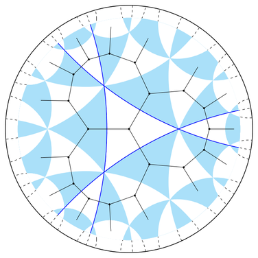 Dual graph to the Coxeter complex of a cocompact hyperbolic Coxeter group
