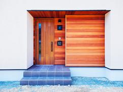 若狭町・小浜市にある自然素材の工務店[夢源建築]の施工事例 直線的な外観の家3