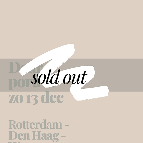 Zondag 13 december || Rotterdam, Den Haag & Wassenaar