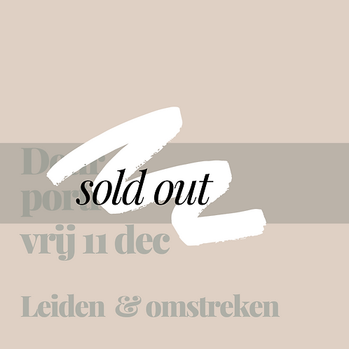 Vrijdag 11 december    Leiden & omgeving