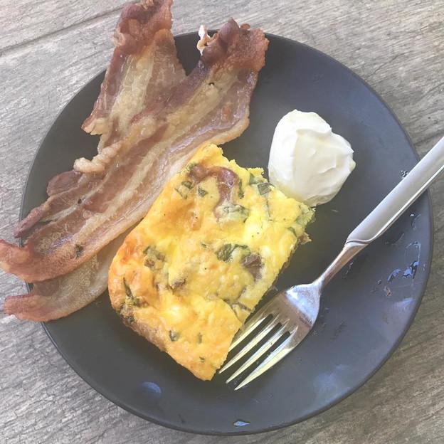 Basil Bacon Egg Casserole