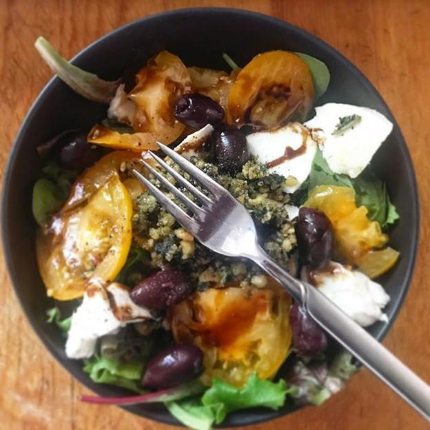 Caprese Salad on Mixed Greens