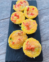 Red Pepper Bacon Zucchini Fritters