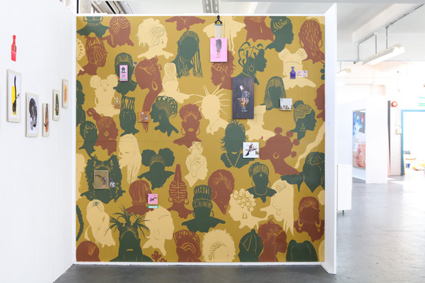 'Camo Heads Collage wall'