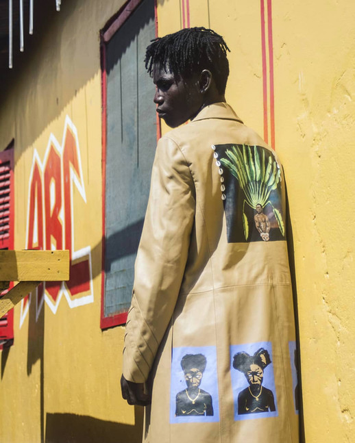 The Sunsum coat, 'Akra' collaboration project with Tsau Store