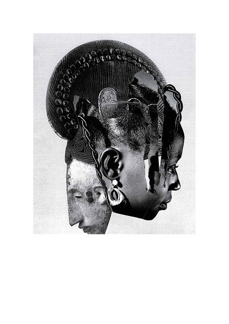 'Mask' A2 giclee print