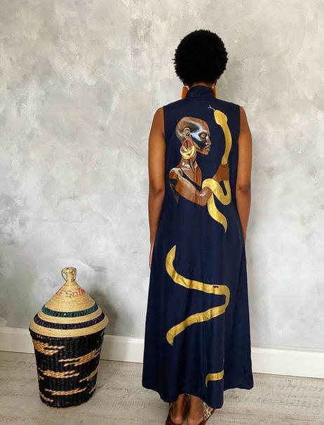 Fevan in the Mami Wata dress