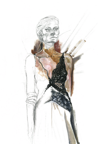 Life drawing for Stella McCartney 'Green Carpet Challenge' event