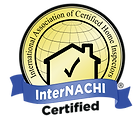 InterNACHI certified Blue and Gold  logo