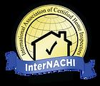 InterNACHI certified Blue and Gold  logo