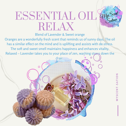 ESSENTIAL OILS - RELAX SHOWER STEAMERS x6