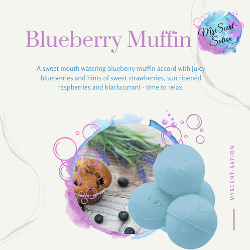 BLUEBERRY MUFFIN - SHOWER STEAMERS X6