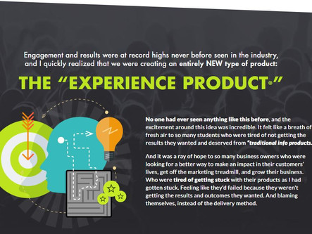 "How To Harness The Power Of ""Experience Products"""