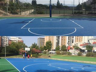 Nuovo campo basket via Castiglione Cagliari ..completato . rinnovato impianto basket con le protezio
