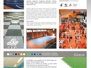 Nuova piastra in PVC autoposante per attività sportive . Rifacimento nuovi e vecchi pavimenti. Agenz