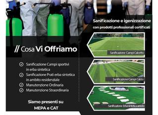 Sanificazione e Igenizzazione impianti sportivi outdoor e indoor.