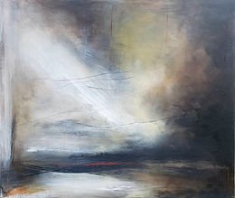 Oil Painting. Abstract painting. Dramatic abstract painting. abstract landscape.Jenny FoxThere's some place I must show you
