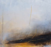 Abstract painting. Oil painting. abstract landscape. yellow and white painting. Jenny FoxThe way we met.