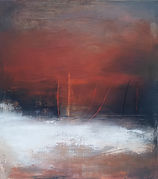 Oil painting, abstract expressionism, abstract painting, Jenny Fox, The way you were the day we met