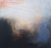 oil painting. black and grey painting. orange paintingLet me keep beside you