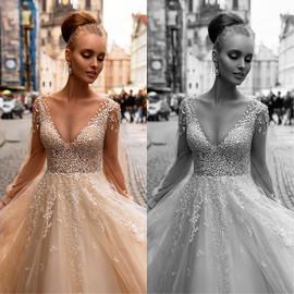 Lekka, bardzo efektowna i zjawiskowa suknia VALDI BRIDE