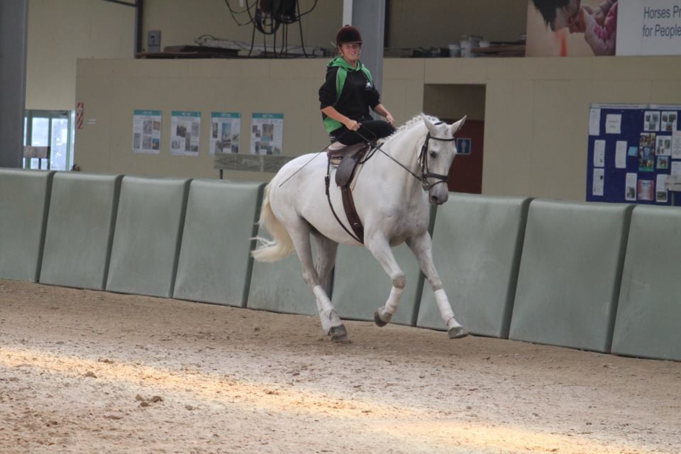 Stacey during her side saddle exams in New Zealand.