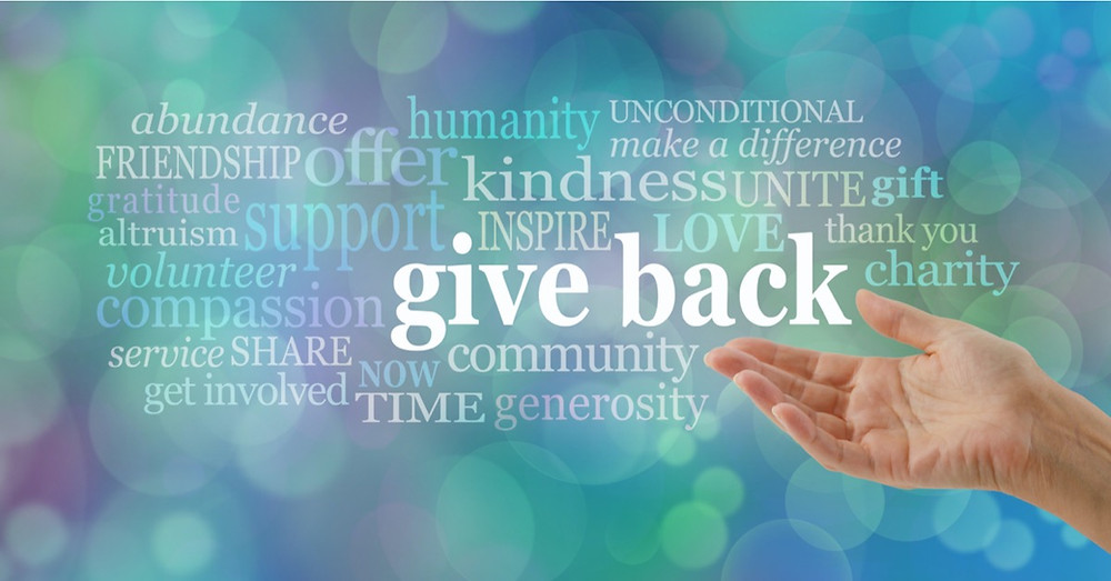 Hand outreached, giving back abundance, humanity, making a difference, offering friendship, kindness and compassion. Making community through charity, volunteering, and generous acts.
