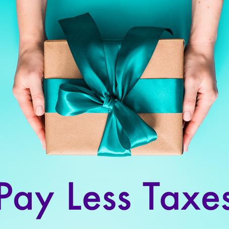 'Tis the Season to Reduce Tax Burden (part 1)