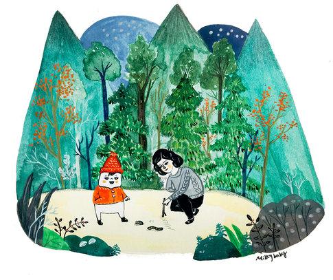 숲 속 놀이 Playing In the Forest