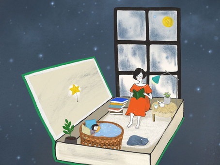 Book Cover illustration - Mom's midnight bookstore <엄마의 심야책방> 표지 일러스트