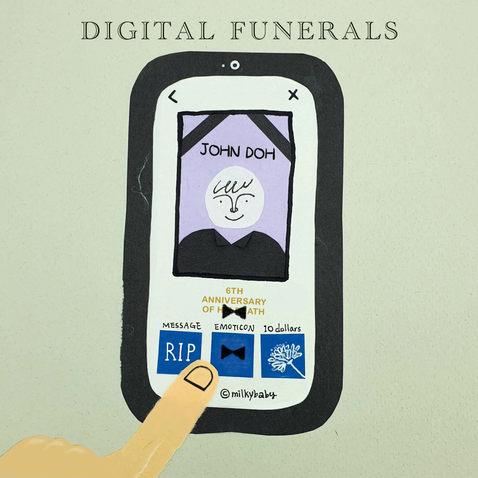 Digital funeral for covid era