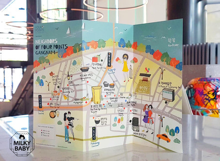 Four Points Sheraton by Gangnam Guide map illustration