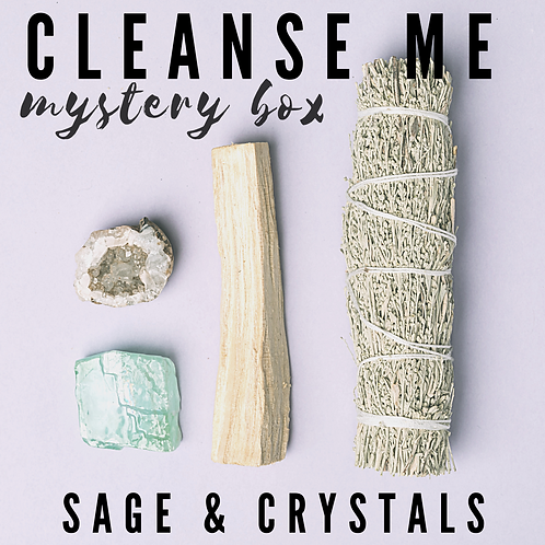CLEANSE ME! Sage & Crystals Mystery Box