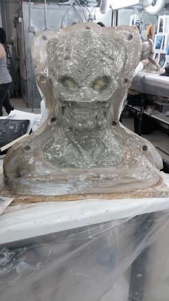 First layer of fiberglass applied