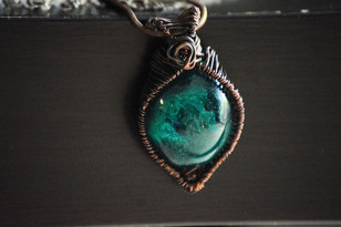 Resin wrapped in copper wire