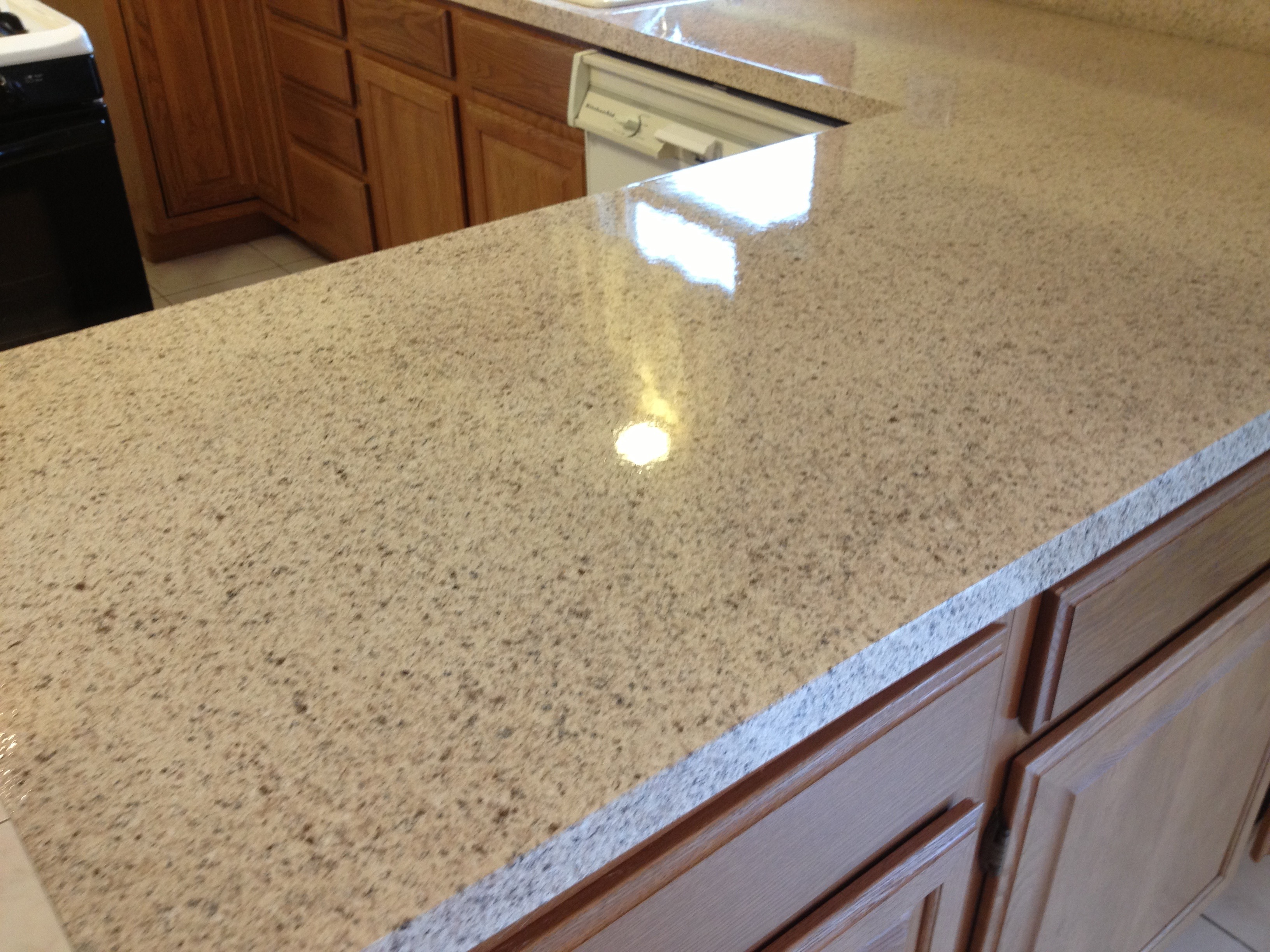 """Closeup of a kitchen top in """"Cliff"""""""