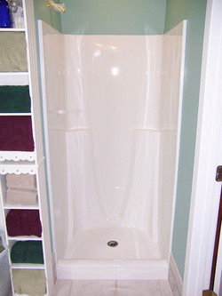Shower Refinished in White