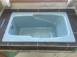 Soaker tub after new tile installed