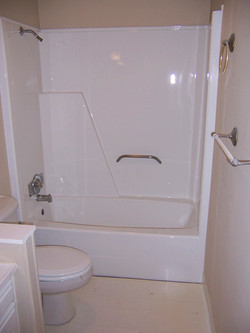 Tub-Shower Refinished in White
