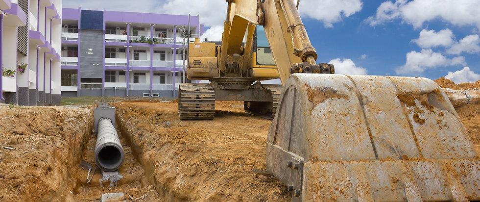 Underground Utility Installation Construction Site