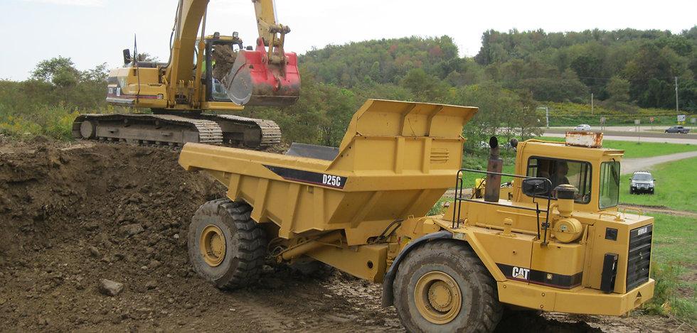Heavy Equipment Machines on Construction Site