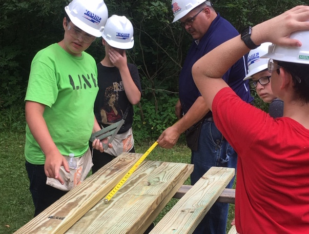 Camp Hard Hat - Building a wildlife observation platform at Genesee County Park in East Bethany
