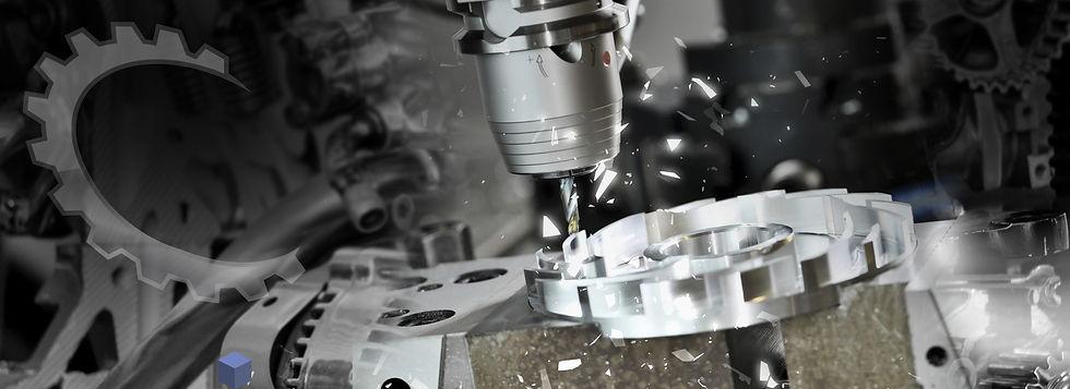 Close up of a CNC Machine Making Tool/Part
