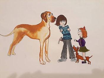 Illustration; ink, watercolor._#dogsandk