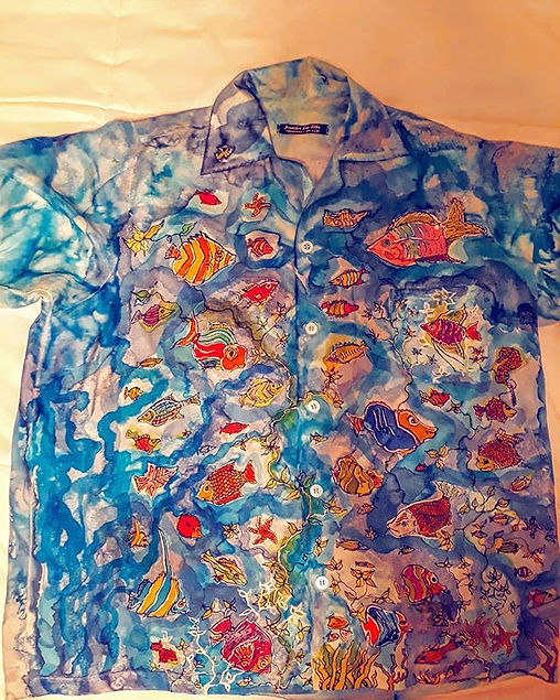 My hand painted silk shirt from my colle