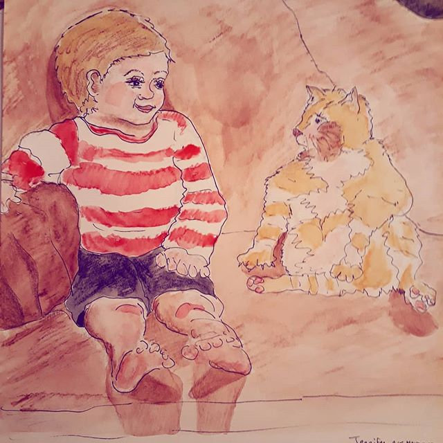 Watercolor and markers_#childrensbookill