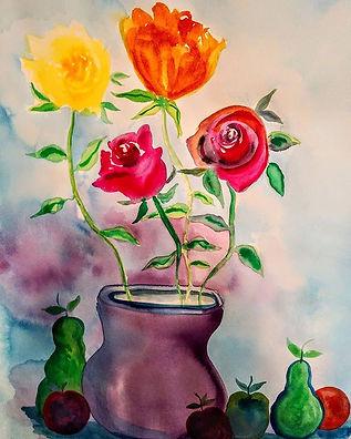 Watercolor painting_#flowerwatercolorpai