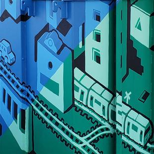 SHOH Electrical Box Mural
