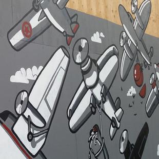Leamington Planes Mural